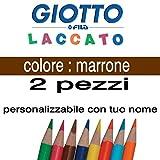 Paire depastels Giotto Laccato, mine de 3,3mm, couleur marron