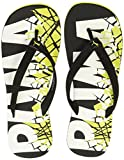 Puma Men's Pop Art II Puma Black and Sulphur Spring and Puma White Flip Flops Thong Sandals - 10 UK/India (44.5 EU)(36652701)