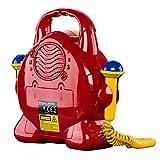 Roadstar KID-55CD Kinder CD-Spieler mit 2 Mikrofonen und Karaoke-Funktion (tragbar, Batterie-Betrieb, Kopfhörer-Anschluss, 10 Watt Musikleistung) - 4