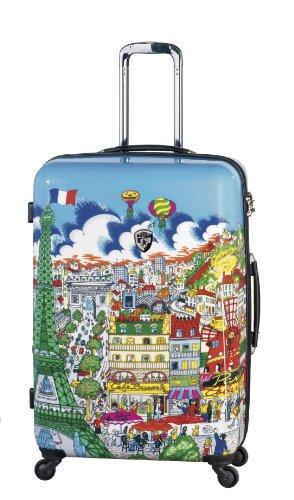 ... 50% SALE ... PREMIUM DESIGNER Hartschalen Koffer - Heys Künstler Fazzino Paris - Trolley mit 4 Rollen Gross Paris