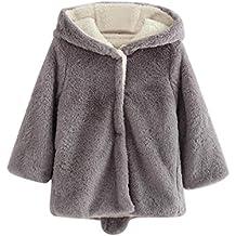 abrigo niña 4-7años Logobeing Abrigo con capucha Capa Chaqueta Gruesa Ropa de abrigo