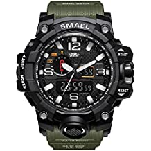 daf7761d9fc8 Reloj de Pulsera para Hombre de dial Doble Digital Reloj de Pulsera para  Hombre de Negocios