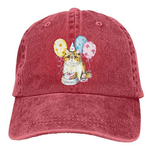 Exotic Cat Cap Bowl Verstellbare Gewaschene Vintage Baseballmützen Trucker Hat ()