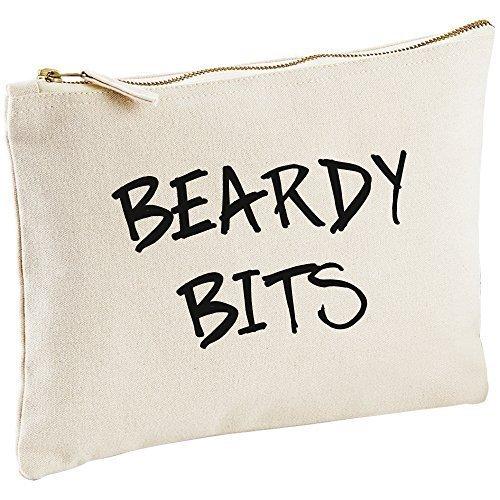 Beardy Embouts Toile naturelle Man pour homme Lavage Sac cadeau Idée Cadeau Sac cosmétique trousse de toilette cadeau