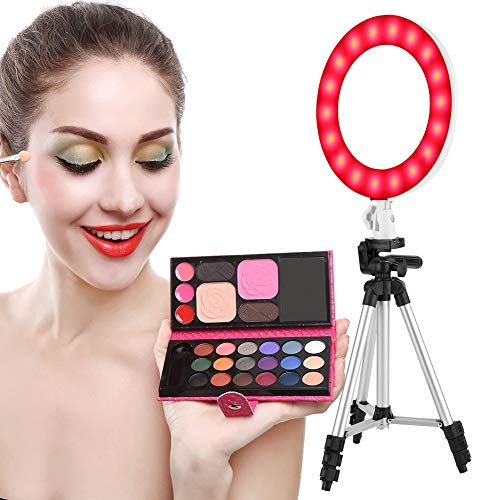 Fill Lamp Kit, 10 Zoll, Ringlampe, für Videoaufnahmen, YouTube-Video, Porträt, Make-up, Live-Videolampe, weiche und helle Lampe, kalte und warme Lampe, RGB 7-Color, 3200K-6500K