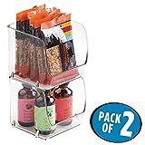 mDesign 2er-Set Küchenschrank Box – stapelbare Aufbewahrungsbox – großer Küchenschrank