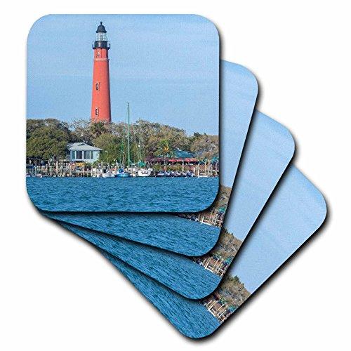 3dRose Danita Delimont–Leuchttürme–USA, Florida, Ponce Einlass, Ponce de Leon Inlet Lighthouse.–Untersetzer, Gummi, set-of-8-Soft (Küsten-dekor-tischsets)