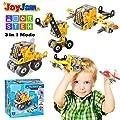 Joy-Jam Spielzeug für 5-8 Jahre alte Jungen, Bauspielzeug Konstruktion Spielzeug Bergpolizei Bergbau Traktor Bagger Technik Flugzeug Creator 3 in 1 Junge Geschenk Weihnachten Geburtstagsgeschenke von Joy-Jam