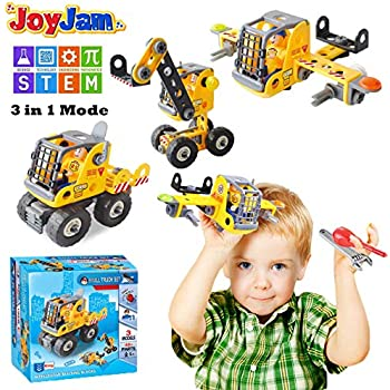 Toys For 5 8 Year Old Boys Joy Jam STEM Building Blocks Set 3 In 1 Engineering Construction DIY Take Apart Puzzles 6 7 Girls Kids