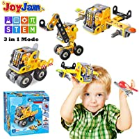 Toys for 5-8 Year Old Boys, Joy-Jam STEM Building Blocks Set, 3-in-1 Engineering Construction DIY Take Apart Puzzles, Toys for 6-7 Year Old Girls Boys Kids Christmas Birthday Gifts BSQ-1