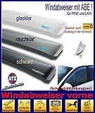 ClimAir CLS0033774D 3774D Windabweiser Profi Vorne, Schwarz