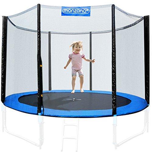 Filet de sécurité pour trampoline - Réseau dense entrée fermable - Ø...