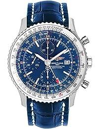 bc7276f27d4 Breitling Navitimer mondo blu quadrante orologio da uomo A2432212 C651 –  746P