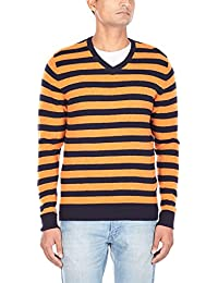Flying Machine Men's V-Neck Wool Blend Sweater