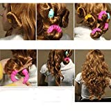 switty, 12 Magic Donuts Sticks Rollen Kreis Spirale Kunststoff Hair Curly Curler Curl Rolle