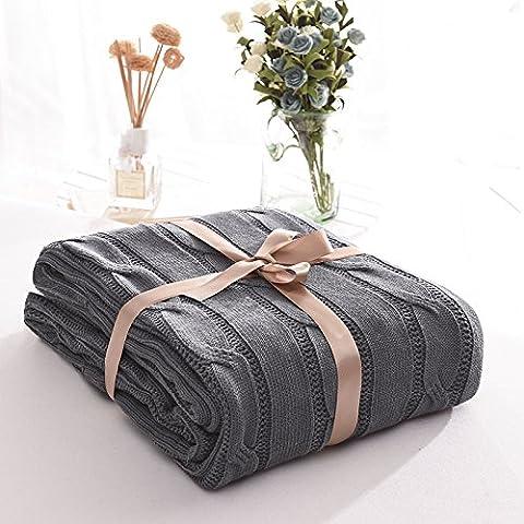Toutes climatisation, coton, tricot couverture pan bureau,180cmx200cm,gris fumée