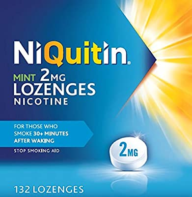 NiQuitin Mint Lozenges- 2mg Pack of 132 Lozenges by Perrigo