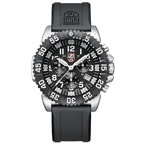 Luminox Mens Chronograph Quartz Connected Wrist Watch with PU Strap XS.3181.L