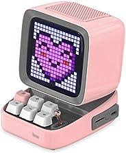 DIVOOM ACDIVDITPNK Divoom Ditoo Pixel Art Portable Bluetooth Speaker with App Controlled 16X16 LED Front Panel