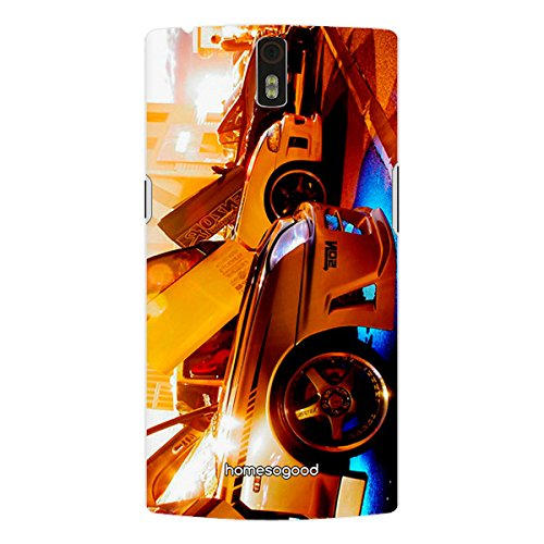 HomeSoGood Automobiles Garage Yellow 3D Mobile Case For OnePlus One (Back Cover)