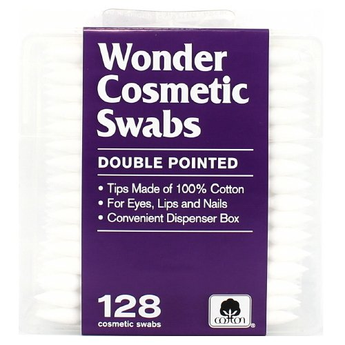 (3 Pack) Wonder Double Pointed Cosmetic Swabs - 128 Count