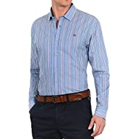 Napapijri El hombre camisa de manga larga franja N0YHE9S02 Gardez