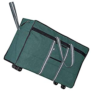 Storite 98 Litre Large Strong Canvas Travel Storage Bag with Wheels for Army Men (Green,73.6x29.2x45.7 cm)