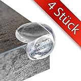 4 STÜCK - Eckenschutz und Kantenschutz | Fuchsi PREMIUM Produkt | BPA Frei | transparent aus Kunststoff für Tisch / Möbel-Ecken / Kanten | Stoßschutz für Baby's, Kinder & Kleinkinder