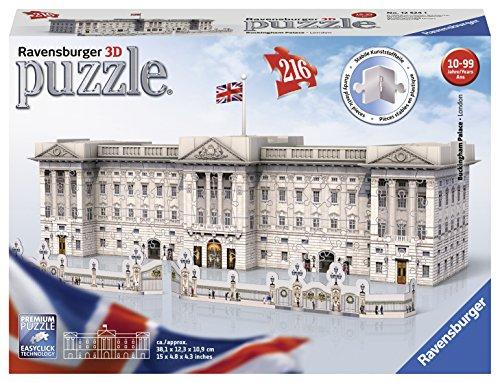 Ravensburger italy- buckingham palace puzzle, 3d building, 12524