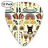 Black Cats Goddesses Bastet Ancient Egypt Guitar Picks Electric Guitar 12 Pack
