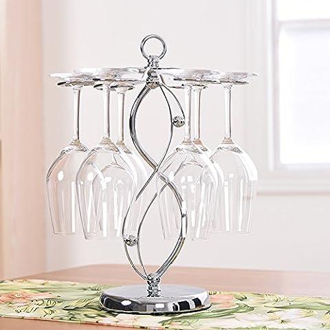Yifom Creative appeso vino rack di vetro capovolto display ripiano in vetro, non contiene il vetro
