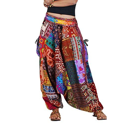 Patchwork Hippie Hose Haremshose Aladinhose Pumphose für Damen & Herren 36 38 40 42