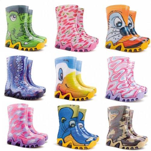 Ddemar multicolores enfants bBottes en caoutchouc Plusieurs motifs multicolores pour enfants Stormic Print - Katze