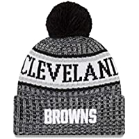 more photos 2b866 6d6f5 ... usa new era nfl sideline 2018 bobble beanie cleveland browns 596cd f589f