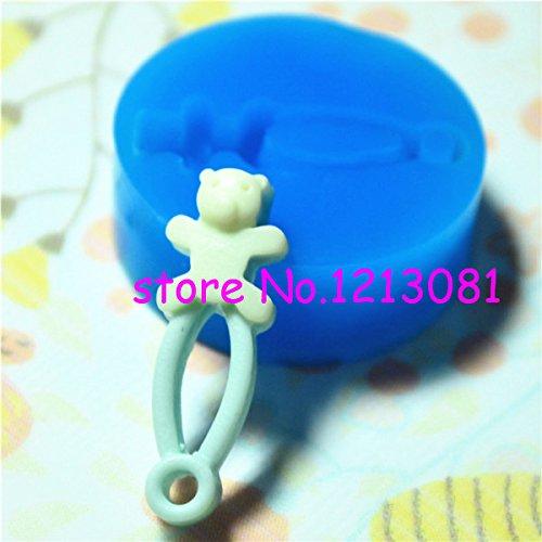 P017Stampo Fimo Stampo silicone Spilla da balia Bambino (28x 5mm)