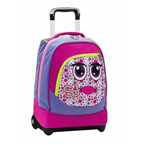 85371593ba Seven Sj Gang Face Faccine Girl Zaino Trolley 33L   Zaini scuola trolley