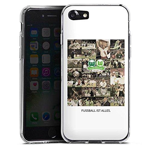Apple iPhone X Silikon Hülle Case Schutzhülle Vfl Wolfsburg Bundesliga Fußball Silikon Case transparent