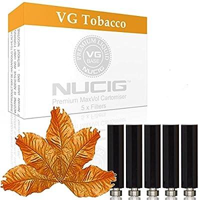 NUCIG 0MG Tobacco Refill cartomiser Filter   ***VG Premium   for e shisha e hookah e cigarette electronic cigarette ego from NUCIG