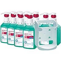 Desinfektions-Set, 10 x 1000 ml Desderman® pure hyclick Händedesinfektionsmittel + Wandspender f. Vierkant-Flaschen preisvergleich bei billige-tabletten.eu