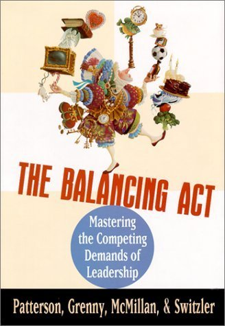 Portada del libro The Balancing Act : Mastering the Competing Demands of Leadership by Patterson, Kerry, Grenny, Joseph, Switzler, Al, McMillan, Ro (1996) Hardcover
