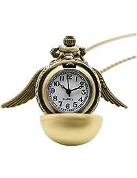 Inception Pro Infinite Collar con Reloj Colgante y alas - Harry (Color Dorado) - Huevo de Oro - Golden Snitch