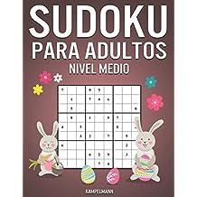 Sudoku Para Adultos Nivel Medio: 365 Sudoku de Media Dificultad para Adultos con Soluciones y Instrucciones - Edición de Pascua