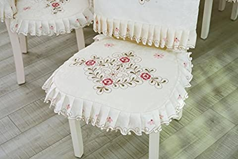 Die Blumen klassischen Satin Polyester Tischtuch und Stühle Suite Mehr Größe , Pad Rückenlehne Anzüge