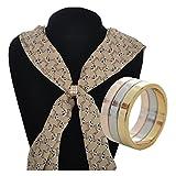 S&E Frauen Gold überzogener Schal Ring einfachen und modernen Design Schals Clip Ringe Form Schals Buckle
