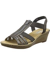 Rieker 62471-45, Sandales Compensées femme