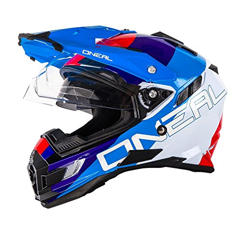 0815-302 - Oneal Sierra Adventure Edge Dual Sport Helmet S White Red Blu