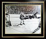 Autogramm, Authentic aacmh30214Bobby Orr Servierlöffel der Ziel 27,9x 35,6cm. gerahmtes Foto–Boston Bruins