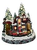 KLP Winterdorf Weihnachtsdorf LED beleuchtet mit Spieluhr Zug Weihnachts Deko Haus