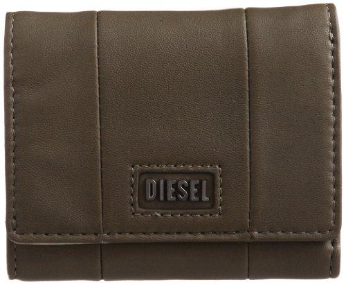 Diesel compacting, portafoglio da donna in pelle di pecora, 10 x 8 cm (altezza, larghezza, altezza) verde verde oliva