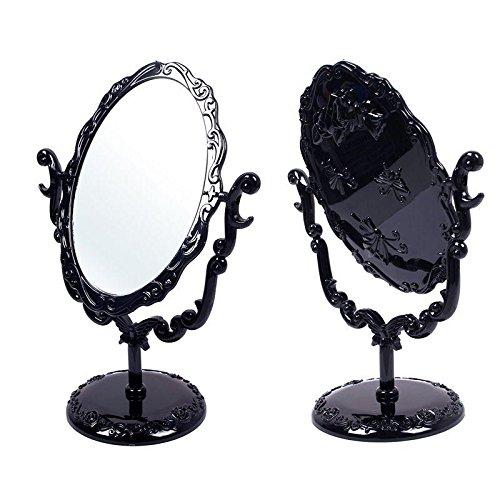 JaneDream Drehenden Kreisförmigen Schmetterlinge Kosmetikspiegel, Kleine Make up Spiegel, Retro...